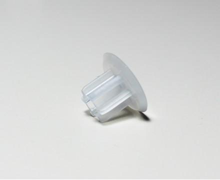 Заглушка для трубки нижней 12мм пластиковая, для рулонных штор зебра.